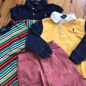Lot of 4 toddler preppy clothing boys 3T